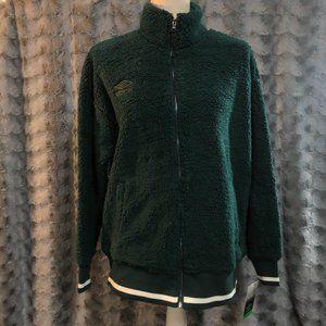 Umbro Full Zip Sherpa Bomber Jacket - Green L